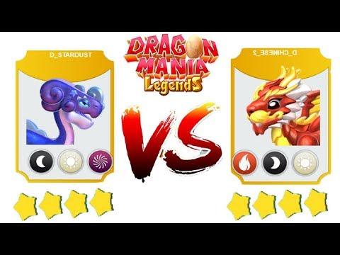 D- STARDUST vs D- CHINESE   ENCHANT DRAGON BATTLE   Dragon Mania Legends   part 1169 HD