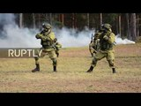 Russia Special Forces showcase combat skills to mark professional holiday