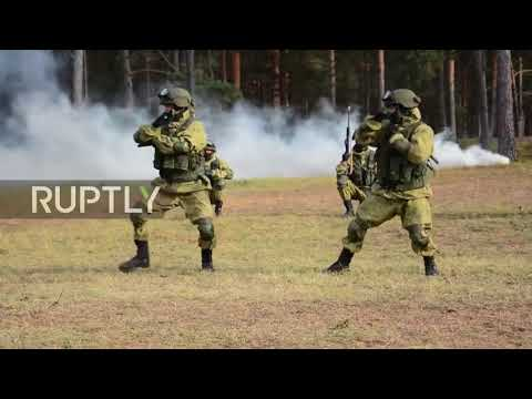 Russia: Special Forces showcase combat skills to mark professional holiday