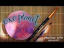 Exo planet gouache process 🌙 fictionalfriend