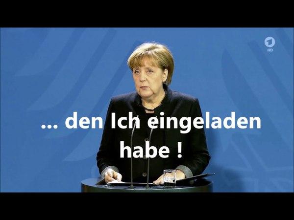 Merkels Trauerrede vom 20.12.'16: Ich bin der Staat und das Gesetz mit 15mal Ich in vier Minuten