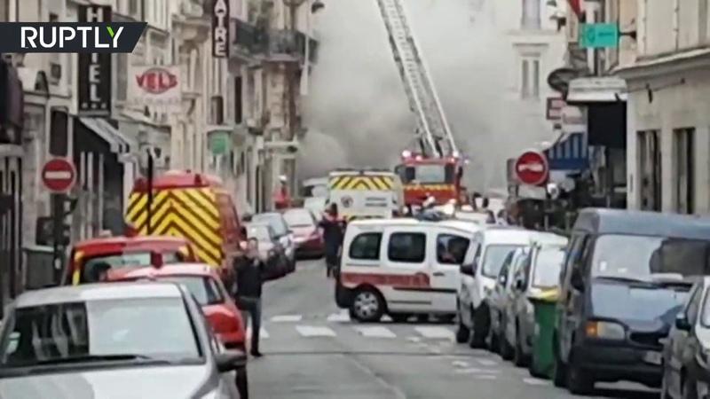 Видео с места взрыва в центре Парижа » Freewka.com - Смотреть онлайн в хорощем качестве