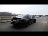 Audi S6 - Brutal Exhaust Sound, Black Monster 2018