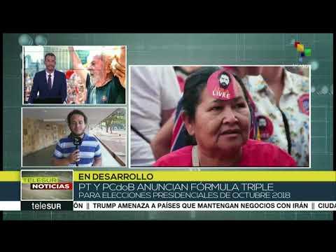 Brasil: PT y PCdoB anuncian fórmula triple para elecciones de 2018