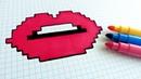 Handmade Pixel Art - How To Draw Lips pixelart