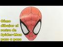 Cómo Dibujar el Rostro de Spider Man Tutorial Paso a Paso