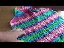Из секционной пряжи Alize Diva batik топ крючком. Ч.3. Узор крючком в копилку