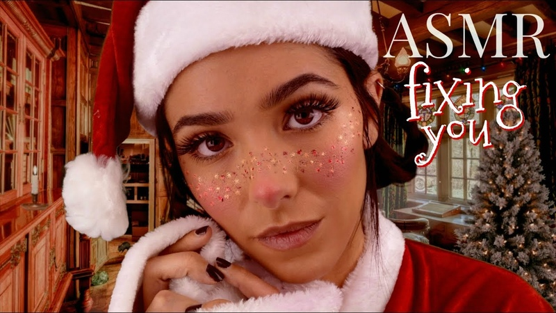 ASMR Fixing You: Christmas Edition (Ear Cleaning, Scratching, Visual Triggers, Lotion sounds...)