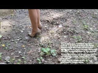 Louboutin high heels in mud, muddy high heels, wet high heels, high heels abused (scene 63)