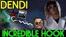 Dendi [Pudge] WOW! Incredible Hook 7.13 Dota 2