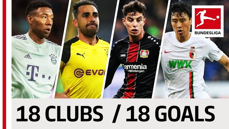 18 Clubs, 18 Goals - The Best Goal by Every Bundesliga Team in 201819 So Far