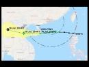 Тропический шторм тайфун SON-TINH идет в Южно-Китайском море на Цюнхай, в 100 километрах от Санья, остров Хайнань, Китай