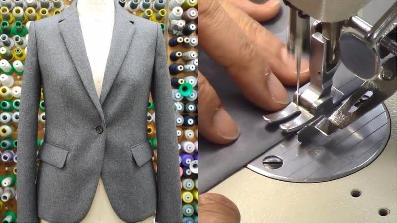 ジャケットの作り方・縫い方 Part2 「裁ち合わせ 伸び止めテープ貼り 裏身頃作り」 How to sew a jacket tutorial