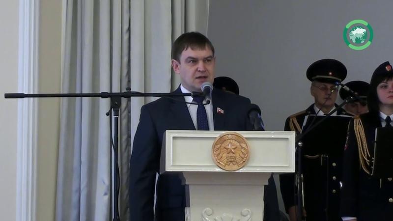 С праздником своих коллег поздравил министр внутренних дел ЛНР генерал-майор полиции Игорь Корнет