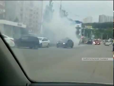 В микрорайоне Сипайлово сгорел легковой автомобиль