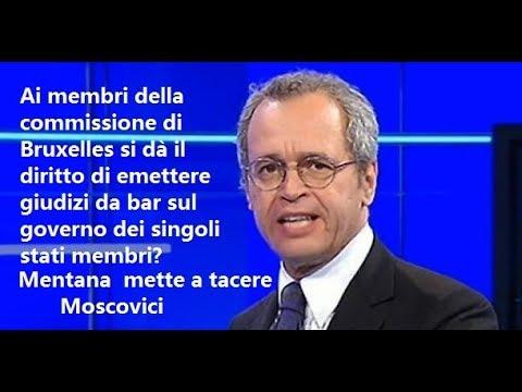 Enrico Mentana mette a tacere Moscovici: Ma come si permette? Ha il 6% di voti e...