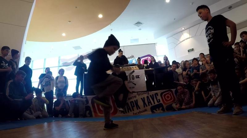 Денчик vs Ильяс Шафиев/Брейкинг/1 круг/Kids Battle (2018)