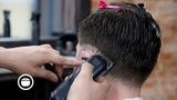 Pompadour Fade Combed Back with Fingers