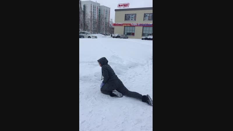 Снег и жопа