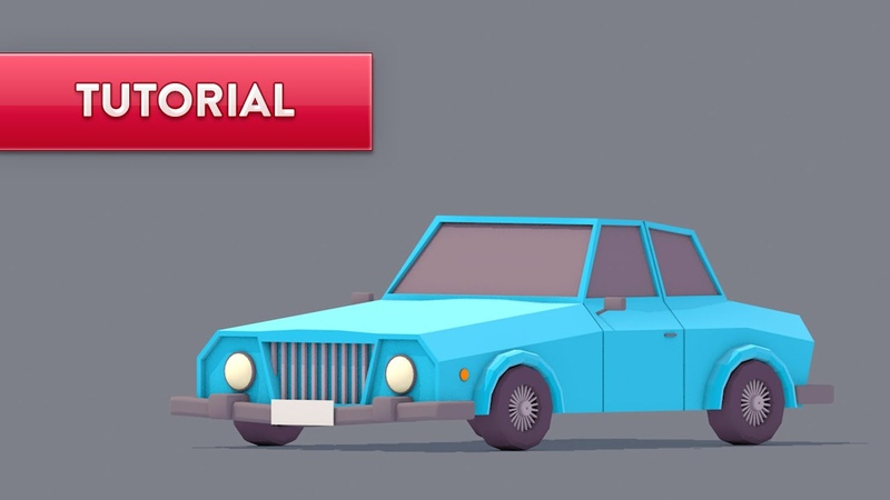 C4D TUTORIAL | Low Poly Car (Beginner)