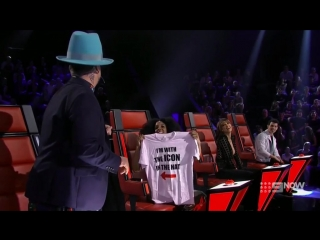 Boy George's special gift for Kelly (The Voice Australia 2018)