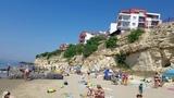 Пляж в Болгарии июнь 2018. Черное море Святой Влас-Солнечный берег. Форт Нокс.