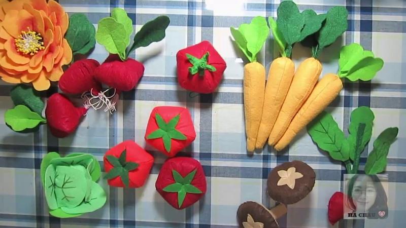 Tự làm đồ chơi cho bé - Củ cải đỏ vải nỉ -HÀ CHÂU