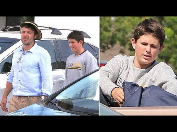 Casey Affleck And Son Indiana Bond During Afternoon Shopping Session