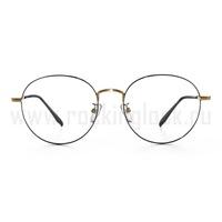 Оправа для очков черная металлическая с золотой небольшой перегородкой 3085417388f