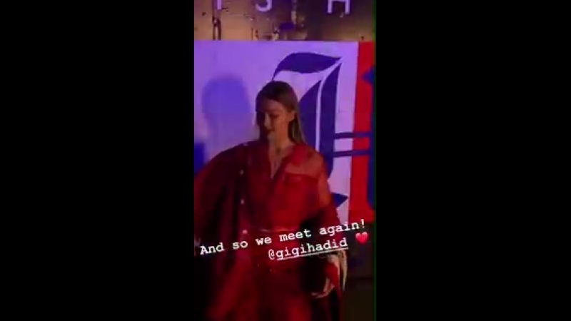 Video di Gigi all'evento TOMMYXLEWIS a New York 10 09