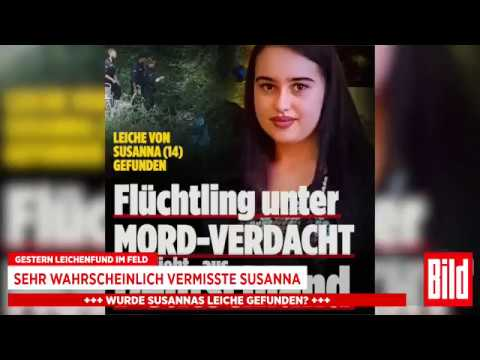 Pressekonferenz Susanna († 14) Refugees Welcome! Weltoffen tolerant! BAMF Merkel
