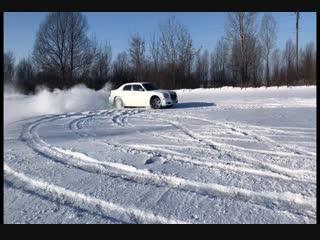 Зимний дрифт. Chrysler 300c