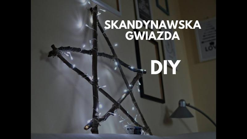 Świecąca gwiazda na Boże Narodzenie DIY - styl skandynawski