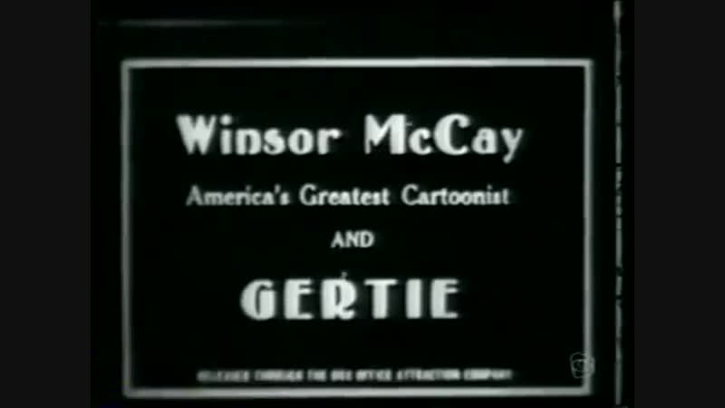 Gertie the Dinosaur 1914 Worlds 1st Keyframe Animation Cartoon Winsor McCay