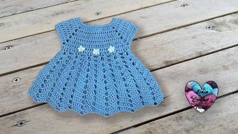 Robe Céleste crochet bébé facile Lidia Crochet Tricot