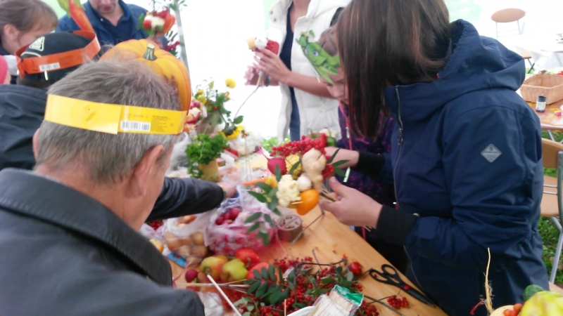 Мастер-класс по созданию букетов из овощей 2018. Флорист Елена Трошкова