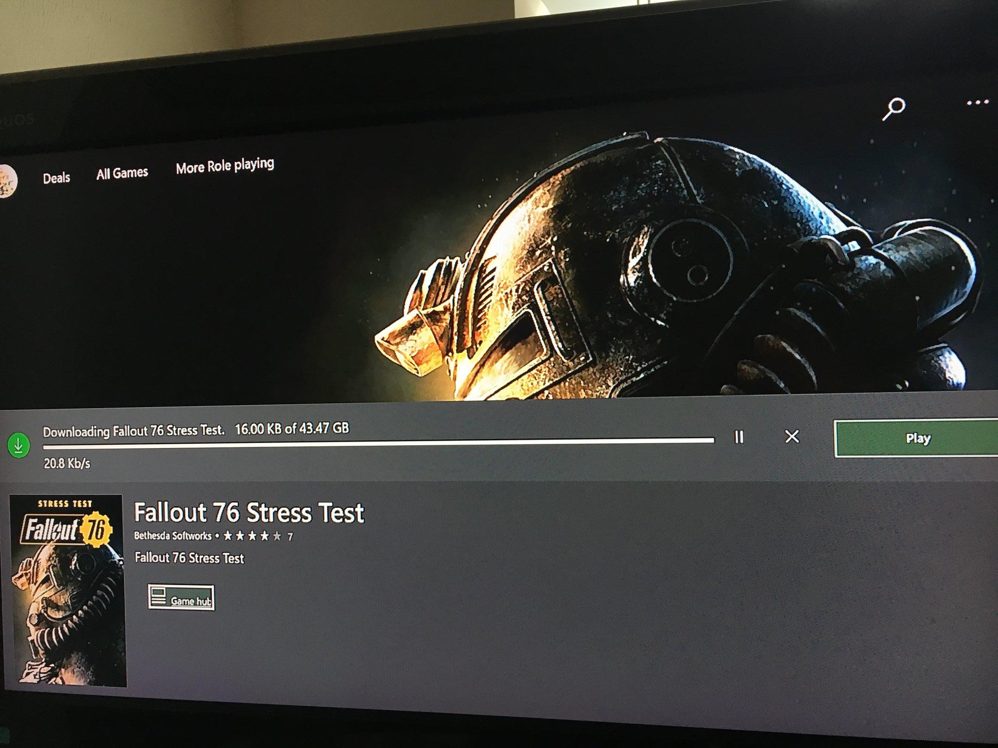 В эти выходные пройдет предварительный бета-тест Fallout76