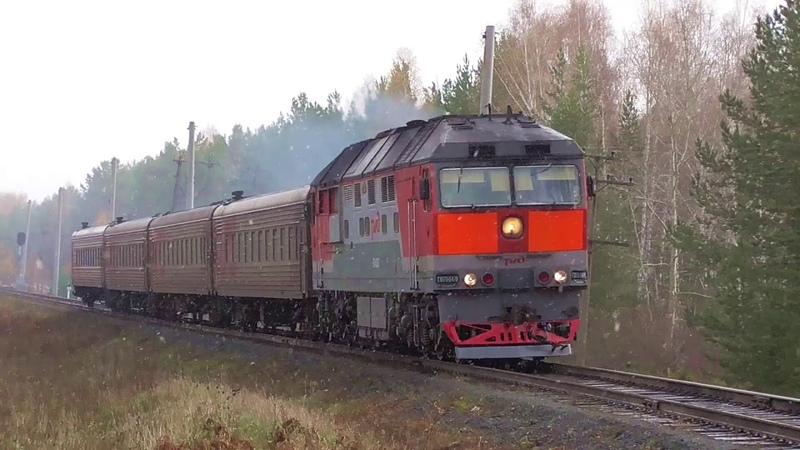 ТЭП70 0478 с пригородным поездом Егоршино Екатеринбург Пасс и приветливой бригадой