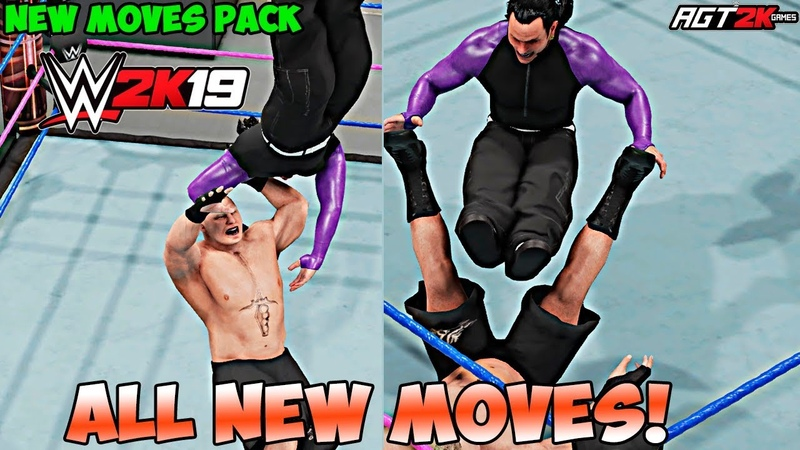 AGT - WWE 2K19 | NEW MOVES PACK DLC - ALL New Moves Taunts! (OVER 50 NEW MOVES!)
