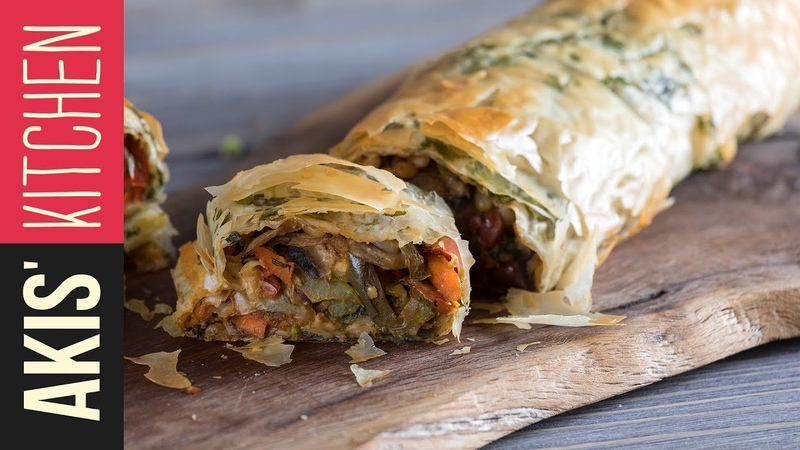 Vegetable strudel | Akis Kitchen