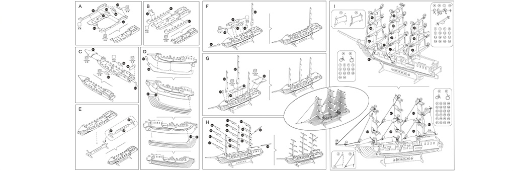 Конструктор New-Land Корабль 30030
