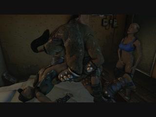 Goro threesome rimming (mortal kombat sex)