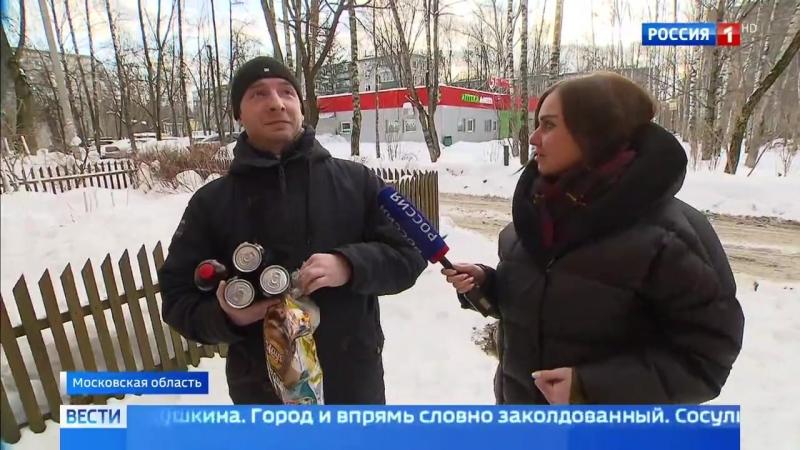 С угрозой для жизни: Пушкино превратилось в ледяное царство
