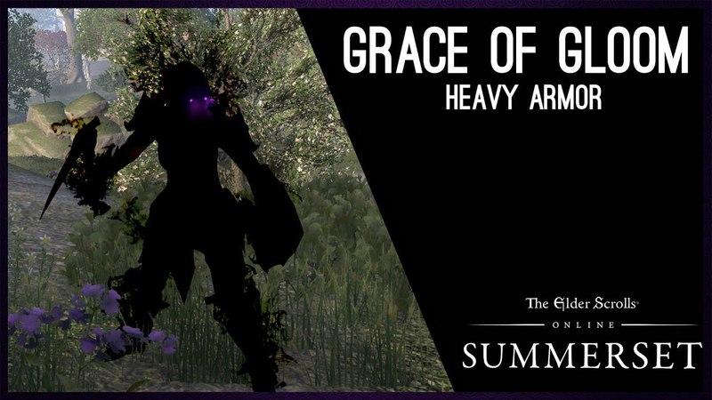 Grace of Gloom Heavy Armor Set - Summerset Chapter, Elder Scrolls Online ESO