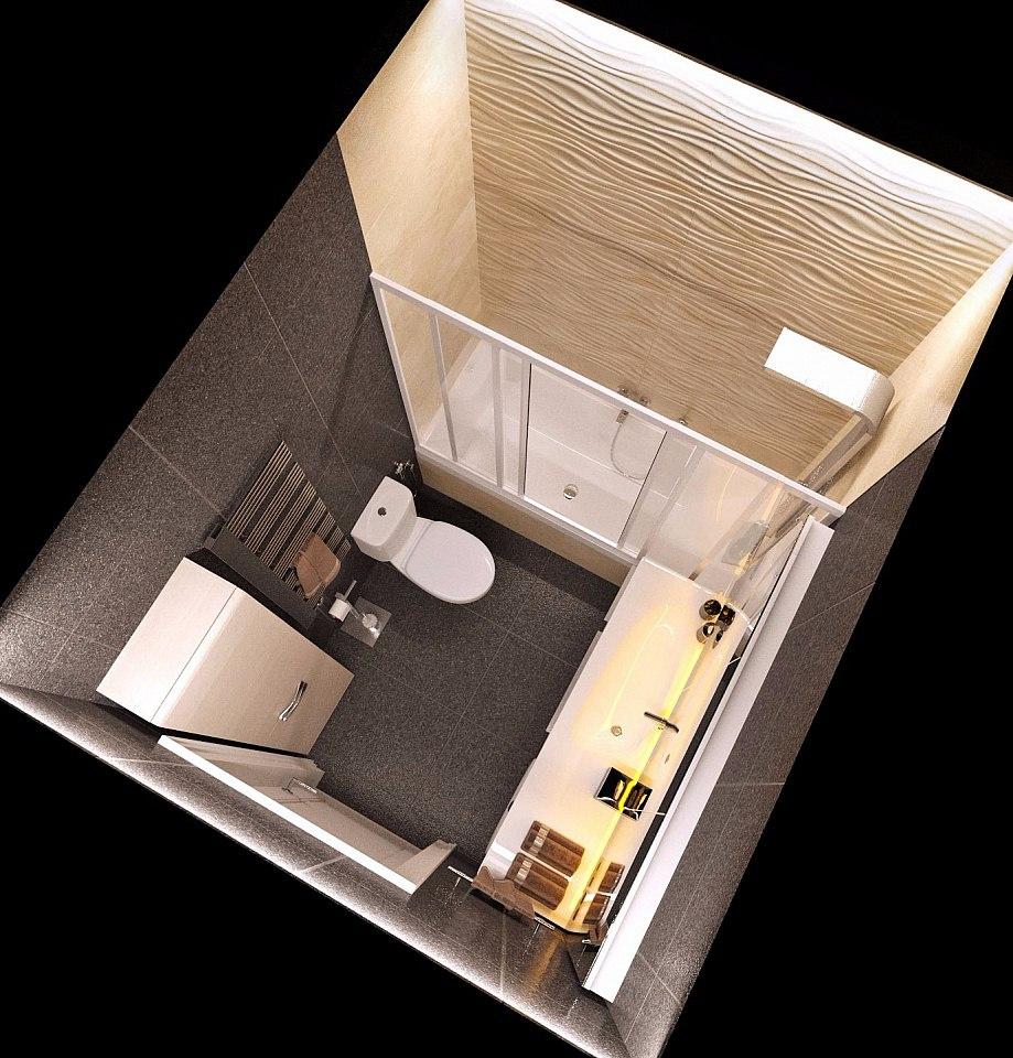 Проект квартиры-студии 25 м с ТВ на потолке.