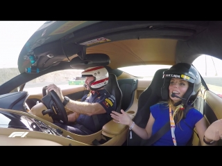 Christian Horners Spicy Lap With Geri Horner! | Pirelli Hot Laps