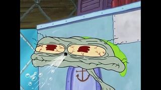 Spongebob Squarepants - Squidward Head Deflate ✸ HD - (720p)