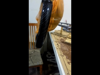 ламинация руля карбоном