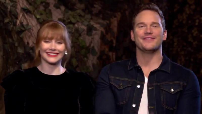 Vue Cinemas l Bryce Dallas Howard Chris Pratt Introduce the Jurassic World Fallen Kingdom Trailer