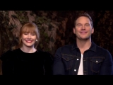 Vue Cinemas l Bryce Dallas Howard Chris Pratt Introduce the Jurassic World_ Fallen Kingdom Trailer